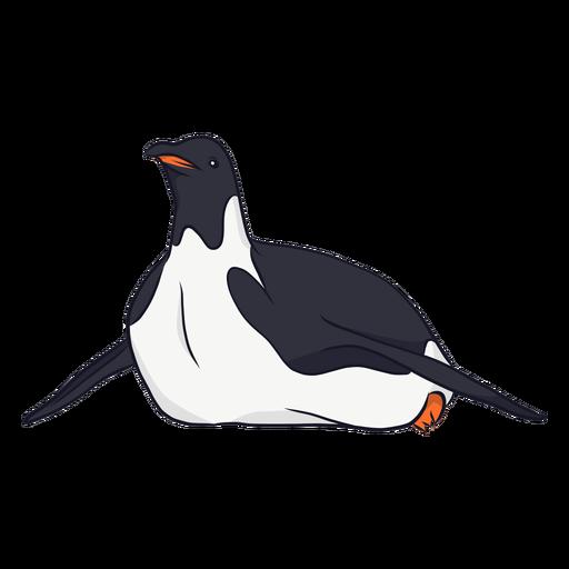 Ilustração de rastejamento de bico de asa de pinguim Transparent PNG