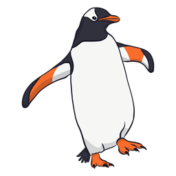 Ilustração de bico de pinguim