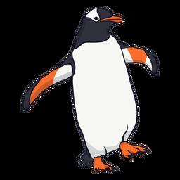 Ilustración de pico de ala de pingüino