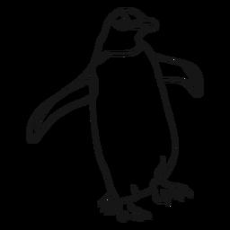 Esboço de bico de asa de pinguim