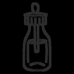 Esboço da pipeta do frasco para injetáveis