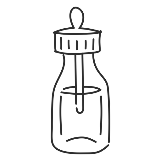 Phial vial  pipette sketch