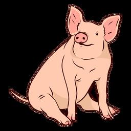 Ilustración de pezuña de cola de oreja de hocico de cerdo