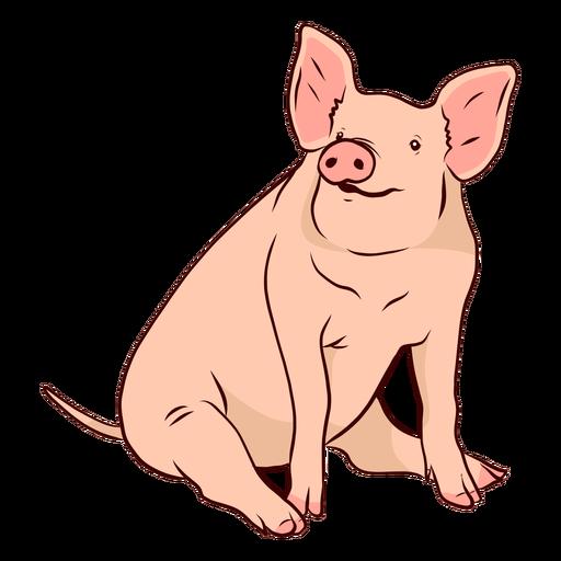 Pig snout ear tail hoof illustration Transparent PNG