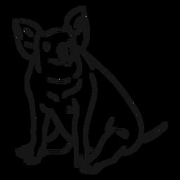 Esboço de casco de cauda de orelha de focinho de porco