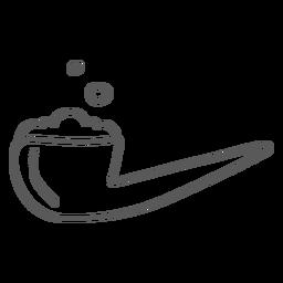 Doodle de tabacco de tubulação