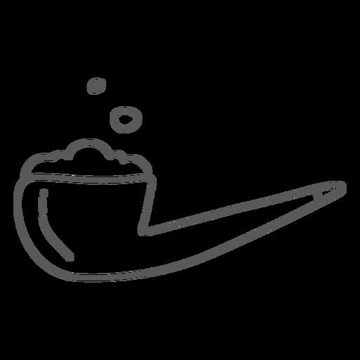 Doodle de tabacco de tubulação Transparent PNG