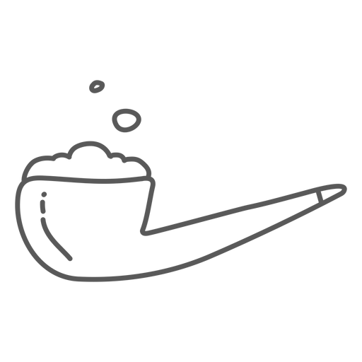 Pipe tabacco doodle Transparent PNG