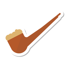 Autocolante de tabaco de cachimbo