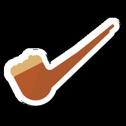 Etiqueta de pipa de tabaco