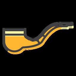 Trazo de tabaco de pipa