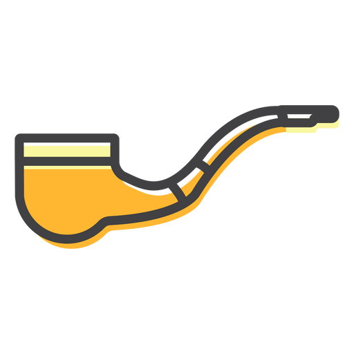 Pipe tabacco stroke Transparent PNG