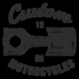 Kolben-Text-Motorrad-Abzeichen