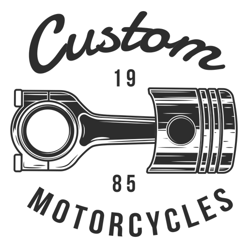 Piston text motocycle badge Transparent PNG