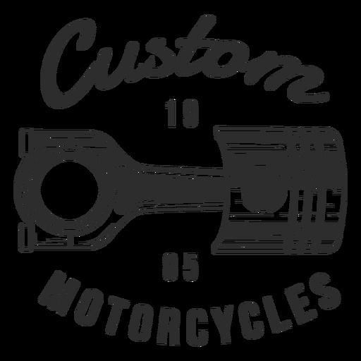 Piston text motocycle badge