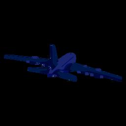 Flache Flugzeugflugzeug-Steuerabbildung
