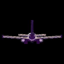 Flache Flugzeugflugzeugsteuer-Flügelillustration