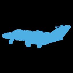 Silhueta de avião de avião