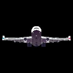 Flache Flugzeugflugzeugfahrgestell-Flügelillustration