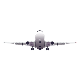 Plano avión avión avión tren de aterrizaje ala ilustración