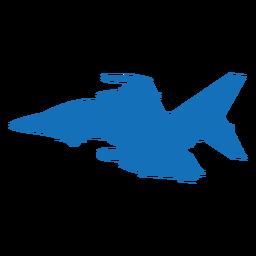 Avión bombardero misil silueta