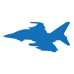 Flugzeug Bomber Raketen Silhouette
