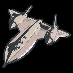 Silhueta de exército de lutador de avião