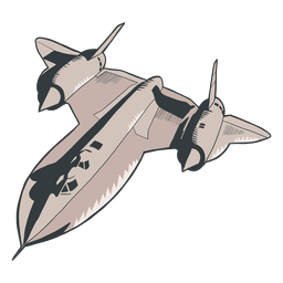 Silhueta do exército de caça a avião