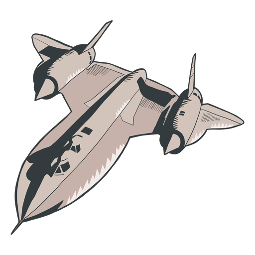 Plane fighter army silhouette Transparent PNG