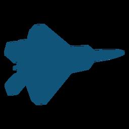 Silueta de mig avión de combate