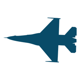 Plane fighter silhouette