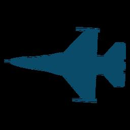 Silhueta avião lutador