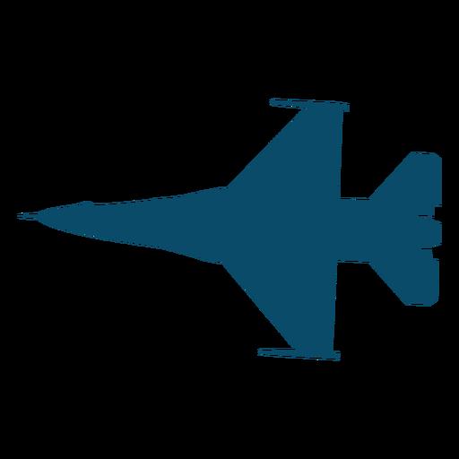 Silueta de avión de combate Transparent PNG