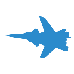 Plane fighter wing silhouette