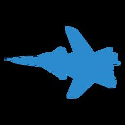 Silueta de ala de combate plano
