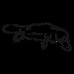 Boceto de cola de pato de ornitorrinco pierna cola