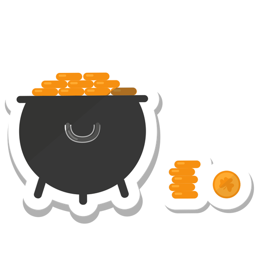Vinilo trébol moneda oro Transparent PNG
