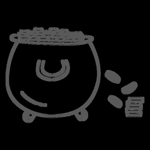 Garabato dorado de monedas Transparent PNG