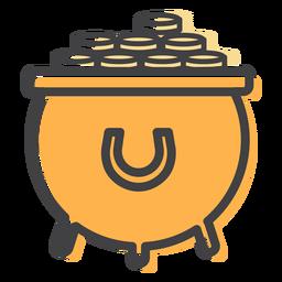 Curso de ouro em moeda de pote