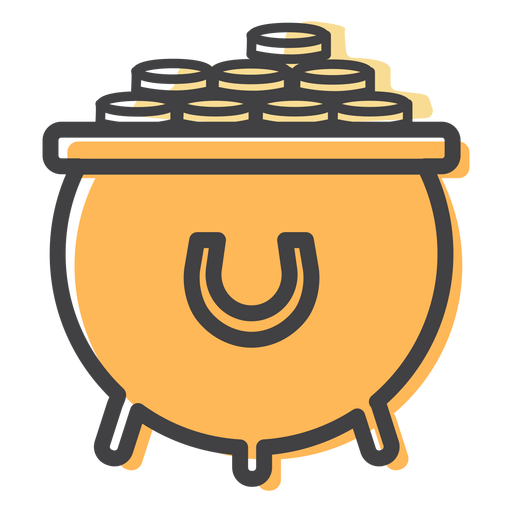 Pot coin gold stroke Transparent PNG