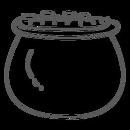 Pot gold coin doodle