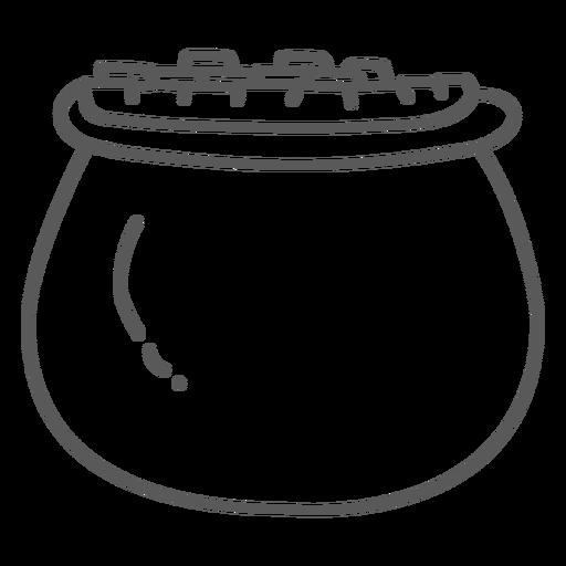 Pot Gold-Gekritzel Transparent PNG