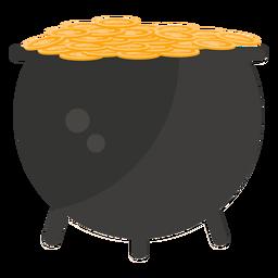Moneda de oro maceta plana