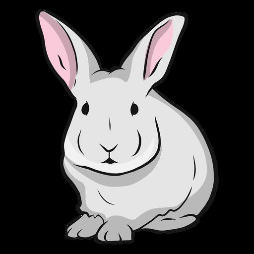Ilustração de orelha de focinho de coelho Transparent PNG