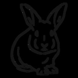 Dibujo de oreja de hocico de conejo