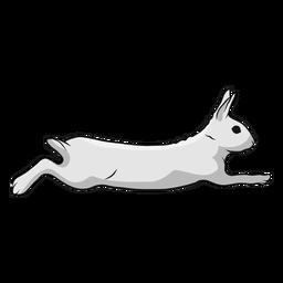 Coelho, corrida, ilustração