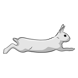 Rabbit run illustration