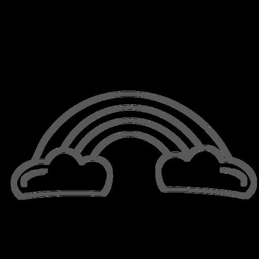 Rainbow arc arch doodle Transparent PNG