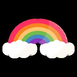 Arco arco arcoiris plano