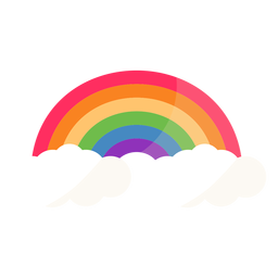 Rainbow arc arch flat